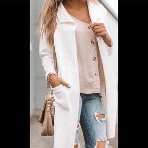 Calvin Klein white coat NWT